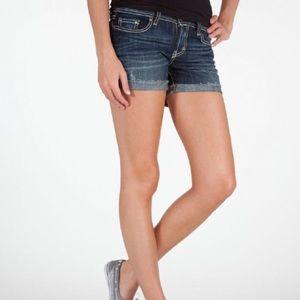 BKE denim culture stretch shorts